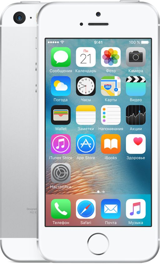Смартфон Apple iPhone SE 16GB (серебристый)